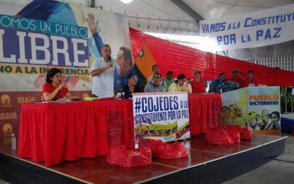 Bernal: Con la Asamblea Constituyente nos vamos a jugar un proyecto político y la vida de los venezolanos