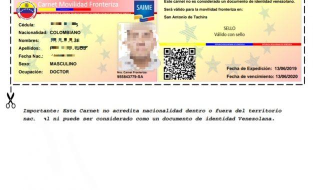 Portal carnetfronterizo.saime.gob.ve ya se encuentra disponible para registro de ciudadanos colombianos
