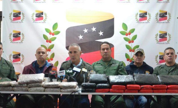 33 detenidos y más de 850 kilos de drogas se han incautado en Táchira