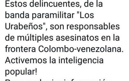 Organismos de seguridad solicitan a dos sujetos en caso de decapitaciones en frontera colombo venezolana