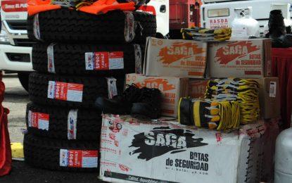 Gobierno nacional entrega cauchos a las unidades de la Planta Cipriano Castro