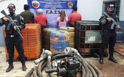 Capturan a ciudadanos por extracción de combustible en el municipio Panamericano