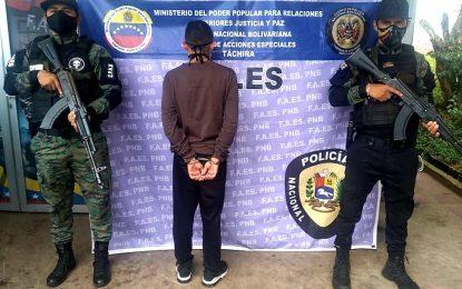 FAES Táchira capturó ciudadano involucrado en feminicidio