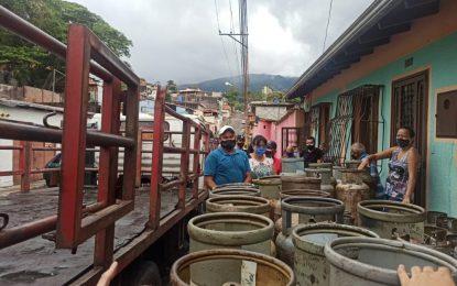 Comunidades del municipio San Cristóbal recibieron 50.138 litros de GLP
