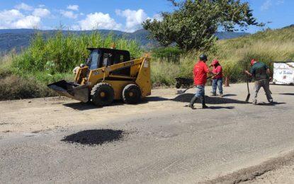 Protectorado realiza mantenimiento a la ruta de Vuelta al Táchira 2021