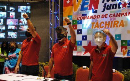 Juramentados integrantes del Comando de Campaña Darío Vivas del Táchira