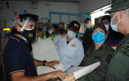Protectorado dota de insumos el área Covid del Hospital Central de San Cristóbal
