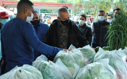 Más de 17 toneladas de verduras y hortalizas entregó Protectorado a comunidades vulnerables del Táchira