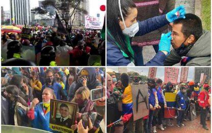 Movilizaciones en Colombia desafían la lluvia y la represión