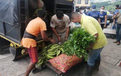 Protectorado del Táchira entregó más de 6.2 toneladas de verduras y hortalizas