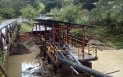 Recuperan el sistema de abastecimiento de la Estación de Bombeo Caño Lindo