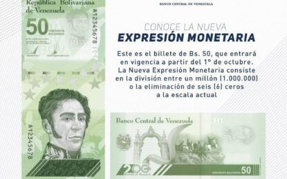 Nueva expresión monetaria, efectos sobre la economía